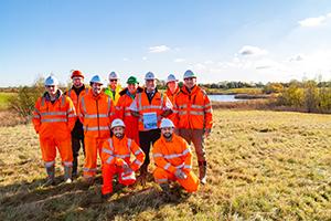 Restoration award team at Shorncote Quarry