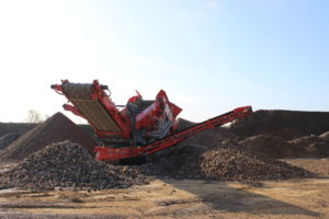 Separation at Shorncote Quarry inert tipping area